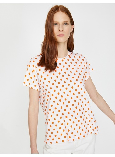 Koton Puantiyeli T-Shirt Oranj
